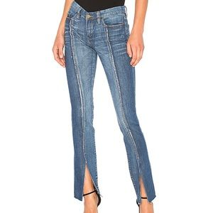 Blanknyc Shadow Seam Mismatched Distressed Jeans